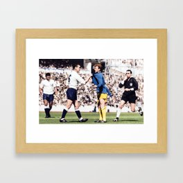 Dave MacKay and Billy Bremner in colour Framed Art Print