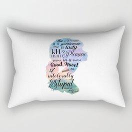 Jane Austen Bookworm Quote Rectangular Pillow