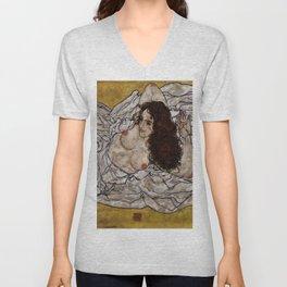 "Egon Schiele ""Reclining Woman"" Unisex V-Neck"