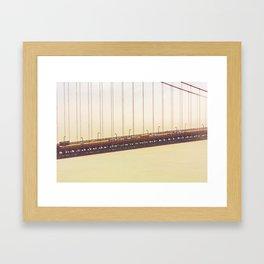 Golden Gate Cross Section Framed Art Print