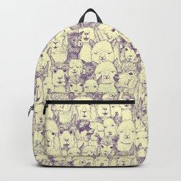 just alpacas purple cream Backpack