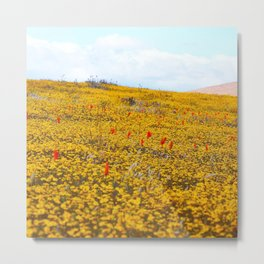 Yellow Ochre Metal Print