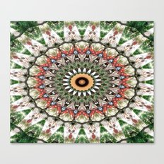 Lovely healing Mandala in brilliant colors Canvas Print
