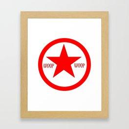 WOOP WOOP BLOOD DESIGN Framed Art Print