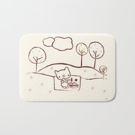 Bear Picnic Bath Mat