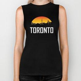 Sunset Skyline of Toronto ON Biker Tank