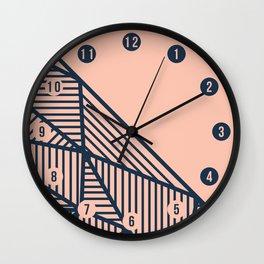 B Rays Geo 2 Wall Clock