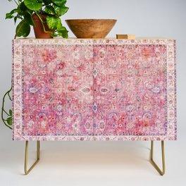 N45 - Pink Vintage Traditional Moroccan Boho & Farmhouse Style Artwork. Credenza