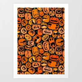 Pumpkin Brawl. Art Print