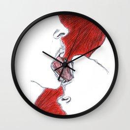 French kiss Wall Clock