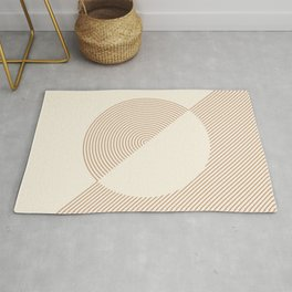 Geometric lines in Shades of Coffee and Latte 5 (Sunrise and Sunset) Rug