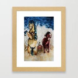 The Chariot Allegory Framed Art Print