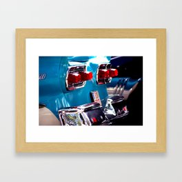 Taillights from a car Framed Art Print