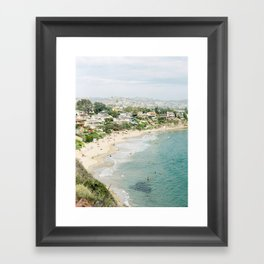 Laguna Beach Lookout Framed Art Print