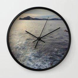 leaving ischia Wall Clock