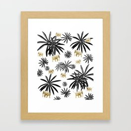 Palm Tree Elephant Jungle Pattern #1 (Kids Collection) #decor #art #society6 Framed Art Print