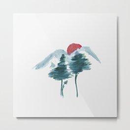 Japanese Alpine Sunset Metal Print