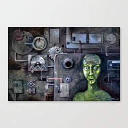 crazy horror techno sadness Canvas Print