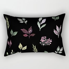 Tiny watercolor leaves pattern Rectangular Pillow
