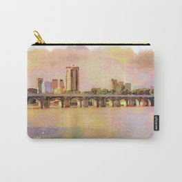 Tulsa Skyline and Arkansas River Carry-All Pouch