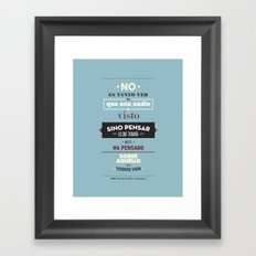 No es Tanto ver Framed Art Print
