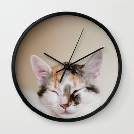 Sleepy cat (II) Wall Clock