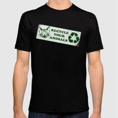 Recycle your animals - Fight club Black Mens Fitted Tee LARGE
