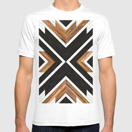 Urban Tribal Pattern 1 - Concrete and Wood T-shirt