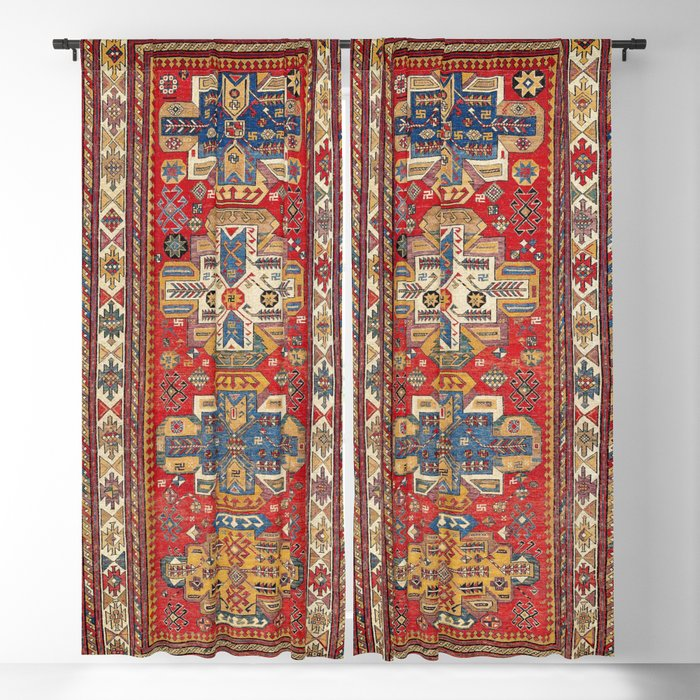 Daghestan Sumakh Northeast Caucasus Rug Print Blackout Curtain