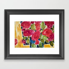 For the roses Framed Art Print