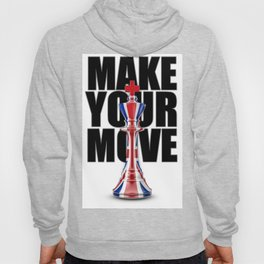 Make Your Move UK / 3D render of chess king with British flag Hoody
