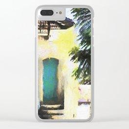 Greek Door Clear iPhone Case