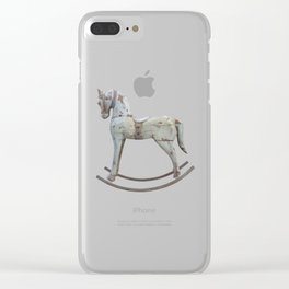 Vintage rocking horse Clear iPhone Case