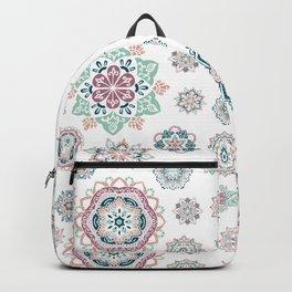 Warm Green mini mandala  patterns Backpack