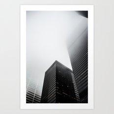 Toronto Fog Art Print