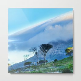Table mountain blanketed in cloud Metal Print