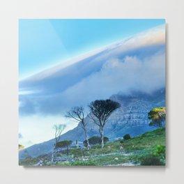 Table Mountain blanketed in cloud Metal Print