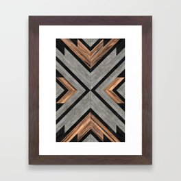 Urban Tribal Pattern No.2 - Concrete and Wood Framed Art Print