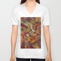 pin up V-neck T-shirts featuring Pin Up by Spyck