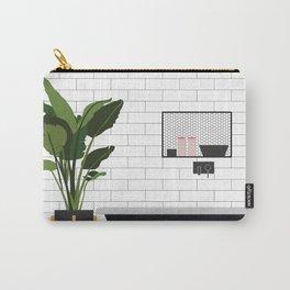A minimal bathroom Carry-All Pouch