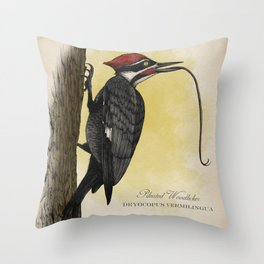 Pileated Woodlicker Throw Pillow