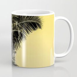 High palms poster in yellow Coffee Mug