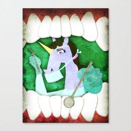 Dentist Unicorn Canvas Print