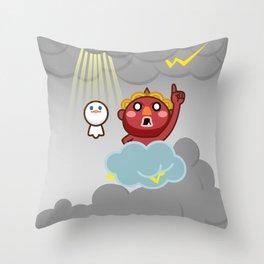 God of thunder! Stamp of Inazuma Mamehati. Throw Pillow