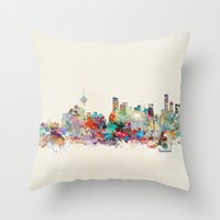 vancouver Throw Pillows featuring Vancouver  by bri.b
