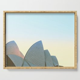 Fairy floss sky, Sydney Opera House Serving Tray