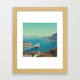 The seaside factories Framed Art Print