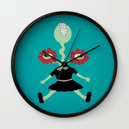 Flower Eyes Wall Clock