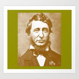 Thoreau Pillow/Thoreau Blanket/Thoreau Rug Art Print