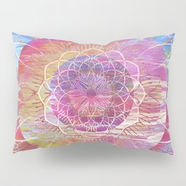 Glitch Mandala Pillow Sham